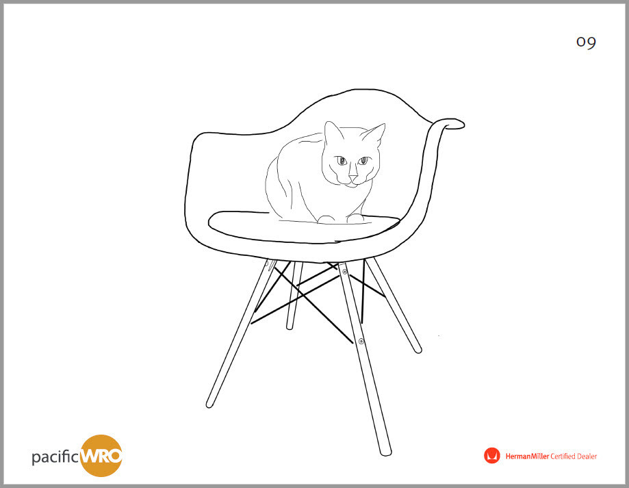 Eames Molded Chair Coloring Page